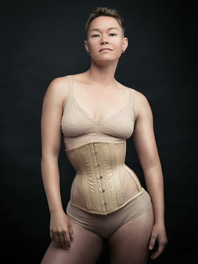 Risqué Construction Shown on a Cincher in Honey