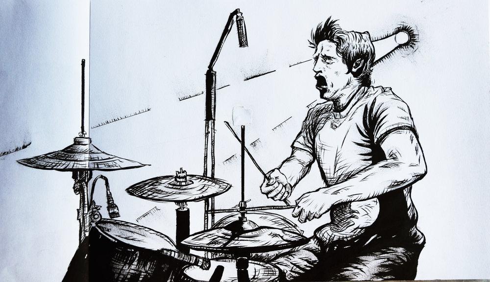 'The Drummer' -robbieallenart
