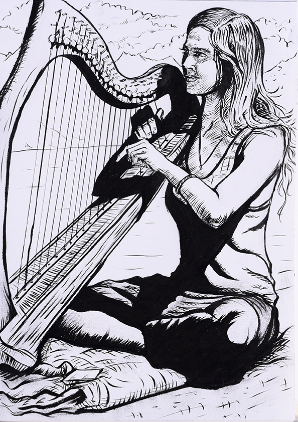 'The Harpist'