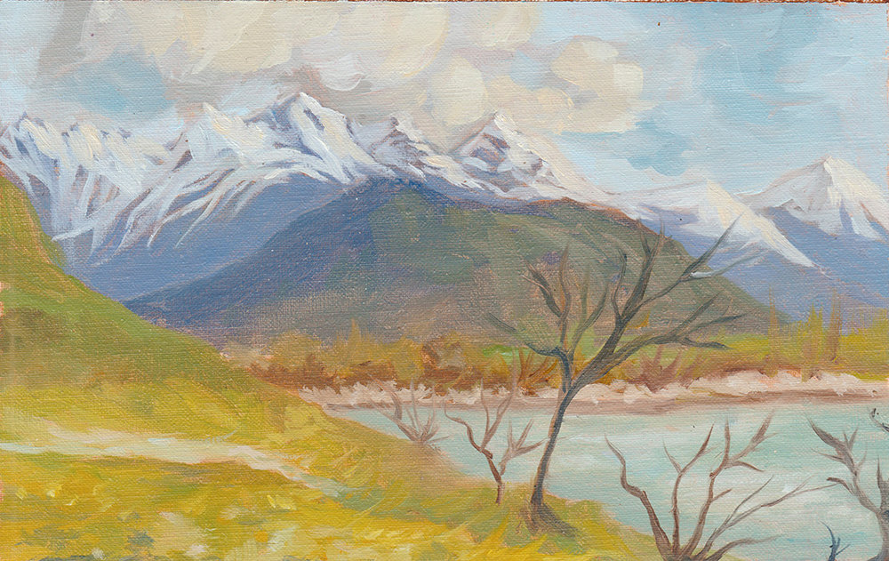 'Lake Hayes, Queenstown Plein Air'