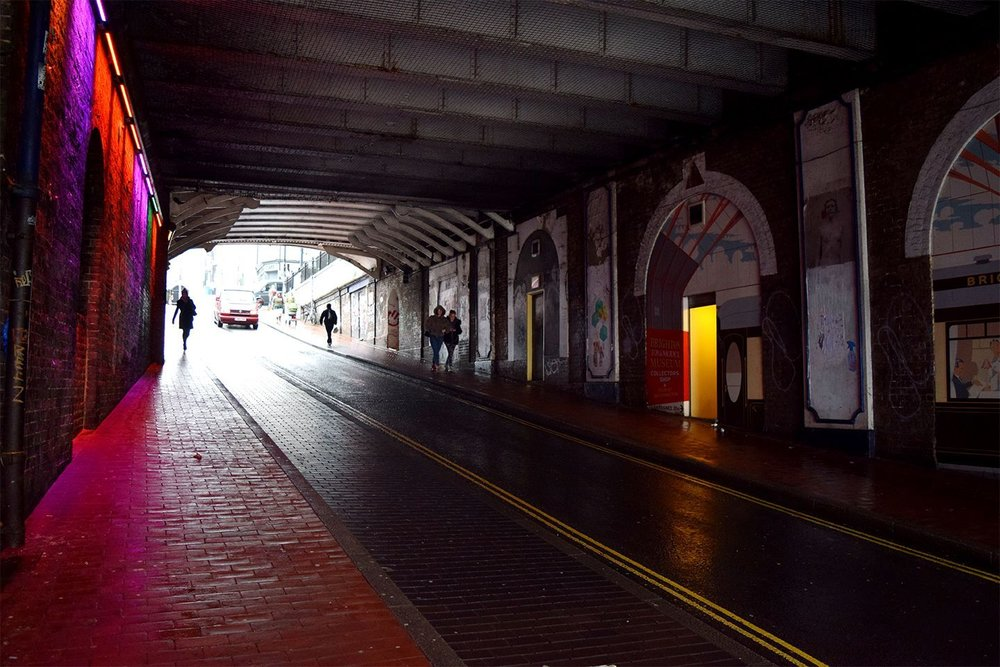 Above image;    Tunnel beneath Brighton station, home of the iconic Brighton toy museum.