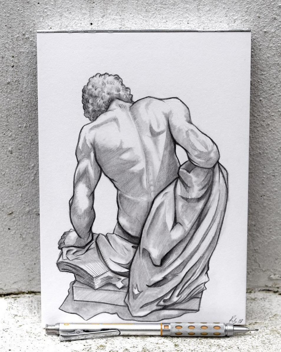European Marble Sculpture Drawing - Day 2