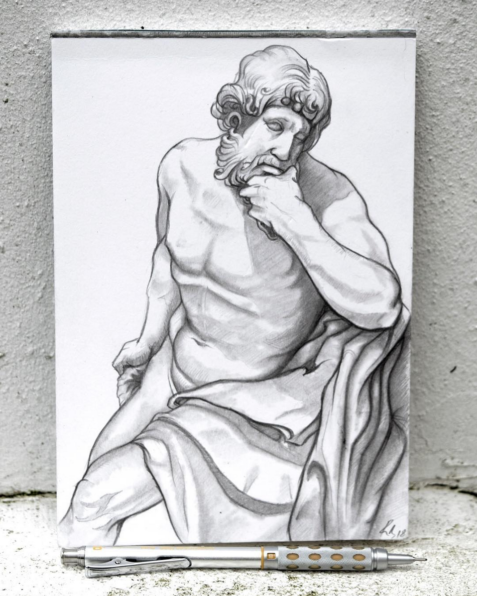 European Marble Sculpture Drawing - Day 6