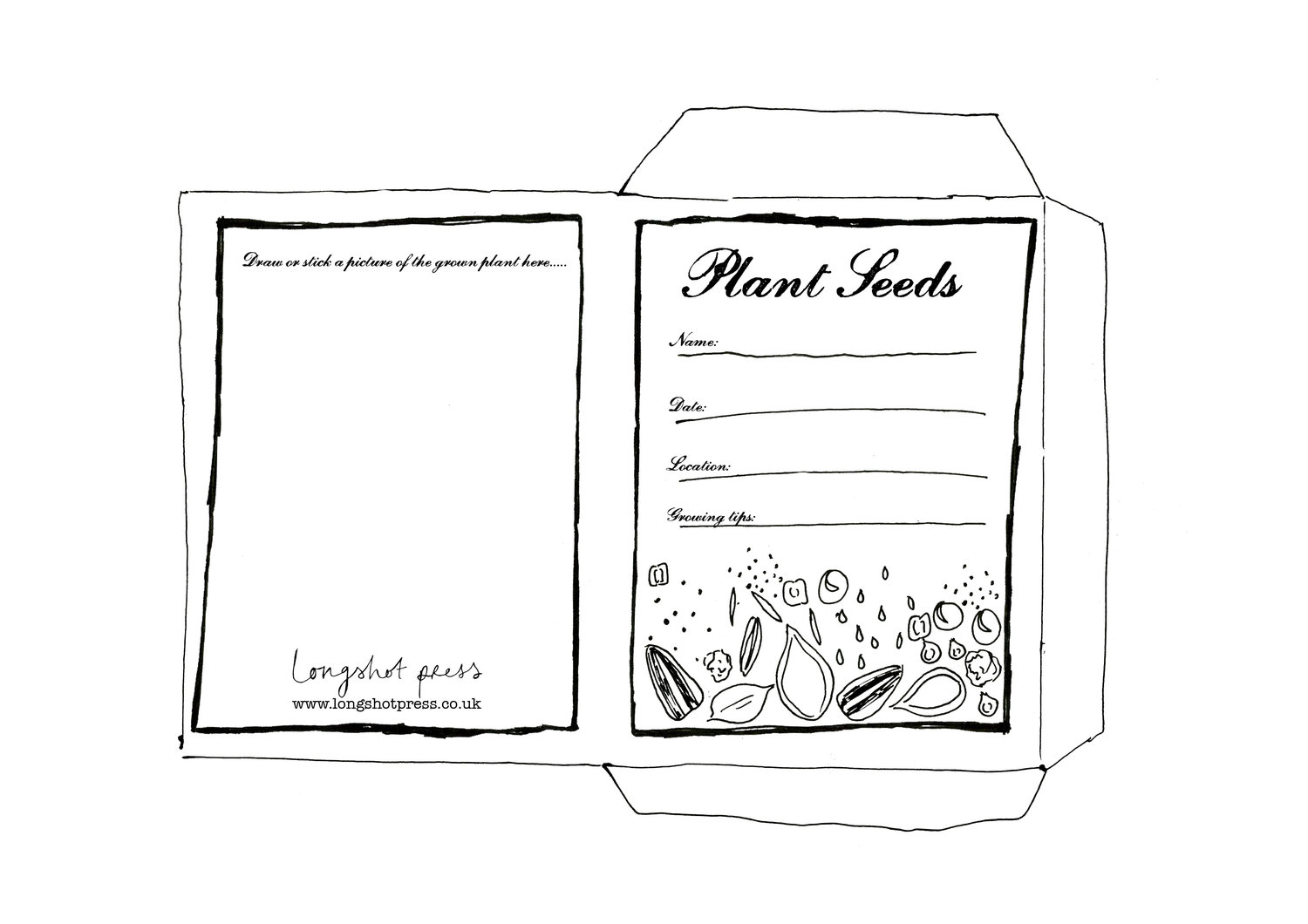 Printable Seed Packet Black And White