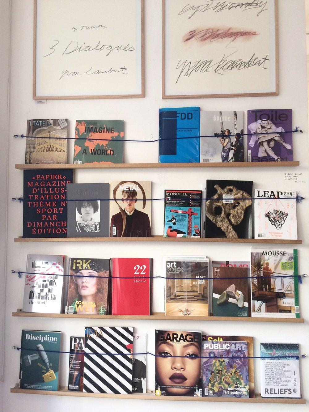 Papier Magazine at Librairie Yvon Lambert in Paris