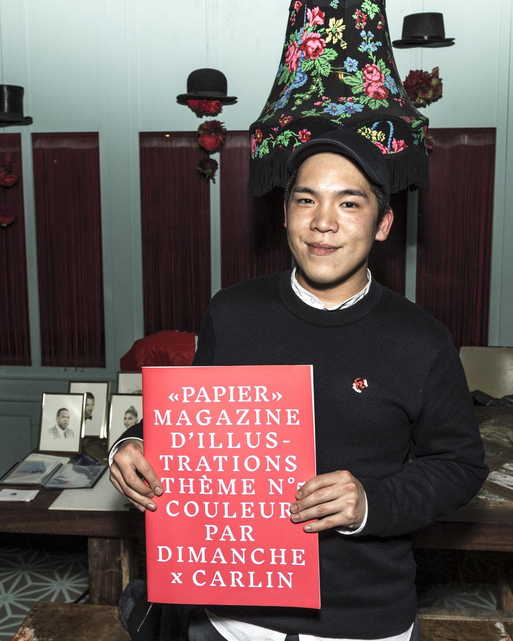 """Alexandre Luu, Le gagnant de la dernière compétition de """"Papier"""" Magazine."""