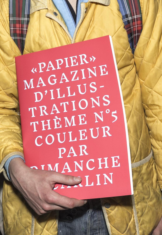 """Papier"" Magazine N5 en collaboration avec Carlin, creative trend bureau"