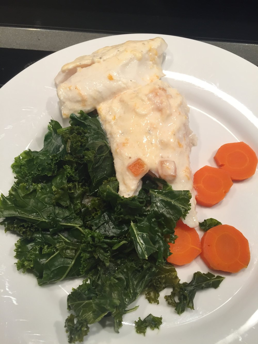 Apricot baked Cod
