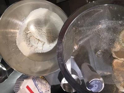 Sifted Flour, Baking Powder & Salt