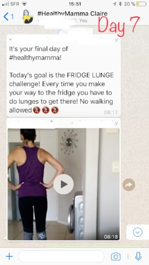 Day 7: Fridge Lunge (final day)