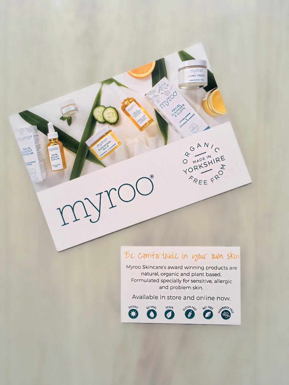 Check out all the Myroo products on their website  www.myroo.co.uk  Or keep up to date with their Facebook page  Myrooskincare
