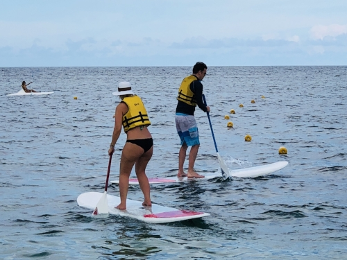 Stand up Paddle Boarding - such fun, our fav activity to do together