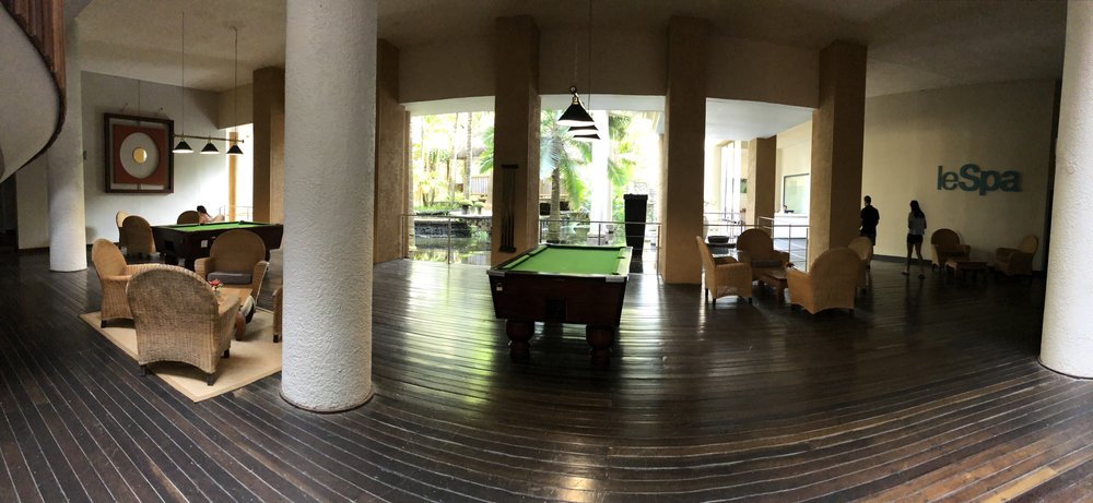 Pool Table, Relaxation area & Spa (to the right)