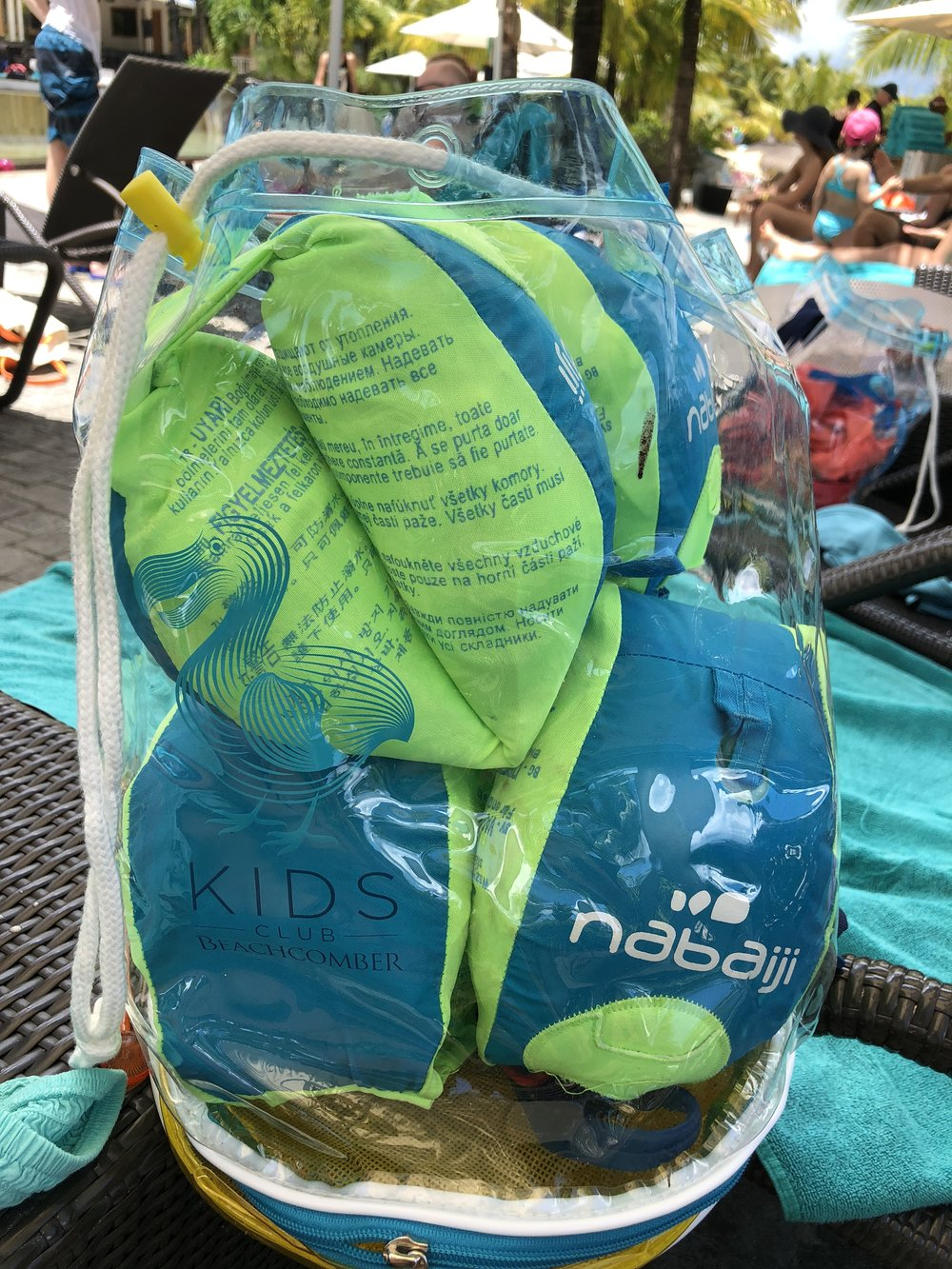 Awesome kids club bag provided for each child