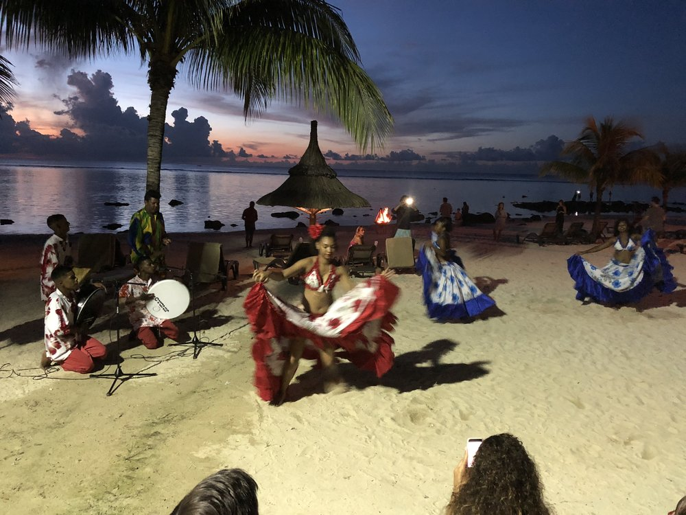 Traditional Mauritian evening dance on the beach - every Friday evening
