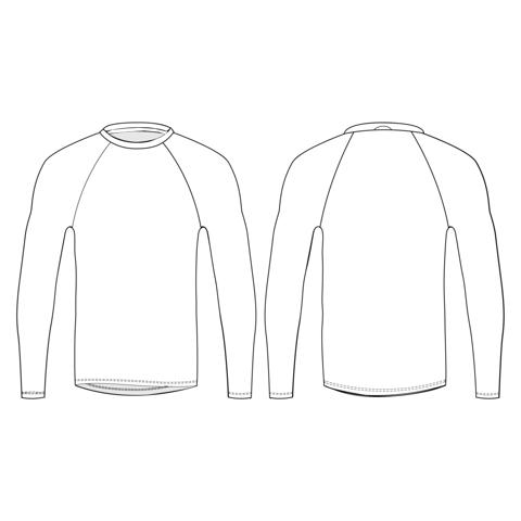 T-shirt manches longues, slim