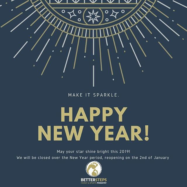 Happy New Year everyone! We are closed for the public holiday but reopen on the 2nd. #betterstepspodiatry #podiatry #feet #kidsfeet #bulimbapodiatrist #bulimba #bulimbabusiness #hawthorne