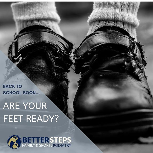 Are you concerned about your child's feet or shoes?  We can help! #betterstepspodiatry #podiatrist #backtoschool #kidsfeet #brisbanepodiatrist #bulimbabusiness #bulimba #hawthorne #returntoschool #schoolshoes
