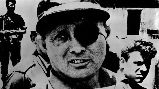 Moshe Dayan, Israeli Minister of Defence during the Six Day War.Photo: Fairfax Media