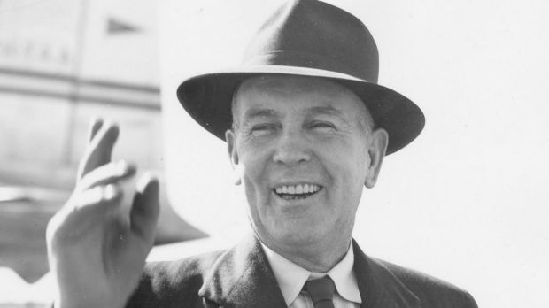 """Ben Chifley said it """"was not a matter of choosing between the bad and the good, but of choosing the least of a number of evils"""".Photo: National Archives of Australia"""