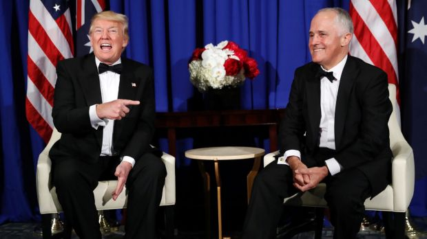 Donald Trump and Malcolm Turnbull when they met in May 2017. Photo: AP
