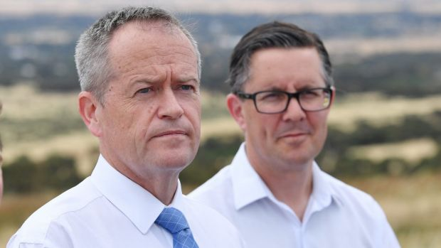 Labor president Mark Butler, right, and Opposition Leader Bill Shorten. Photo: AAP