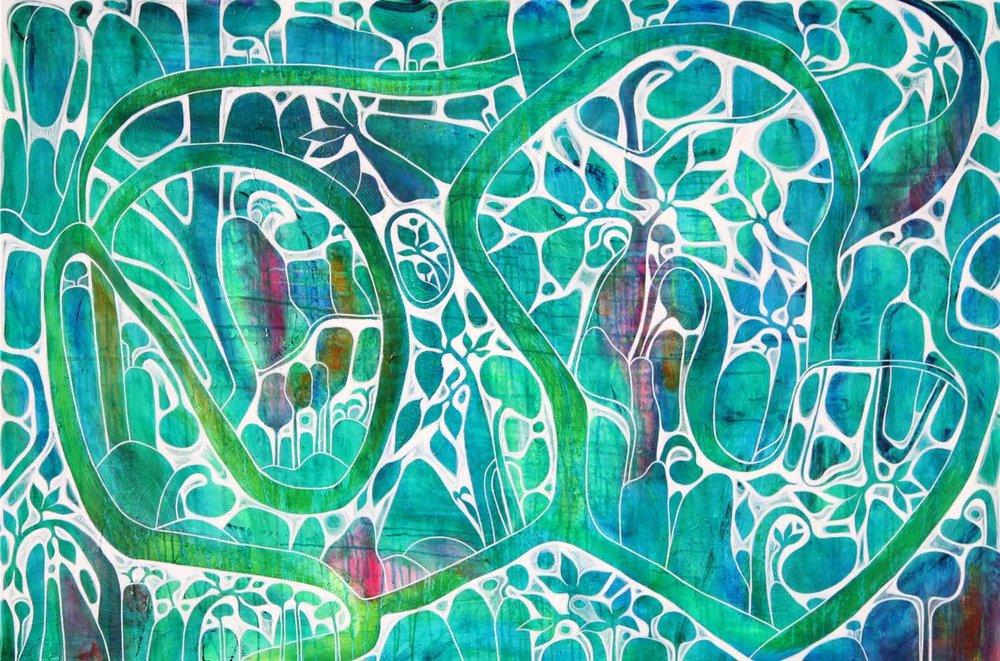 Emerald Waterfall 152cm x 122cm