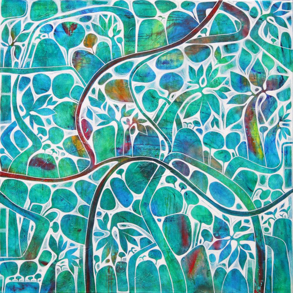 Blue Lagoon 122x122cm