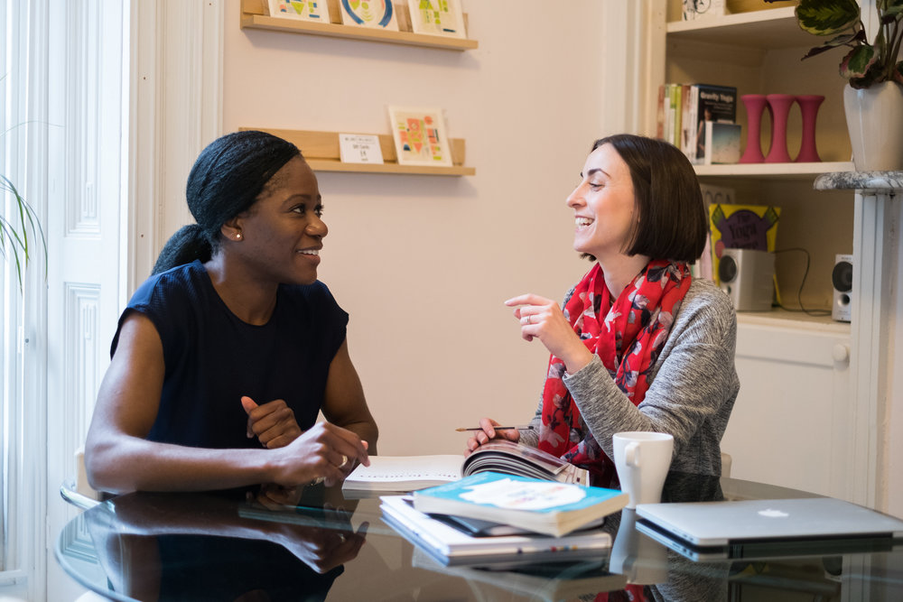 Who are mellownest anyway? - We're Claire and Nneka.You might be wondering whether we're worth listening to - after all, we don't know yourfamily.But we do know a lot about psychology, child development and how little brains work.As a qualified psychologist and emotional wellbeing expert we've helped hundreds of families to adjust their mindsets, learn new tools and have more fun! Read our story.