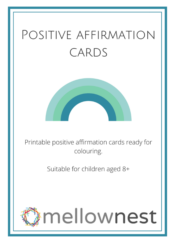 FREE Positive affirmation cards for children - Subscribe to our members-only library and get immediate access to four pages of mini-printable affirmation cards ready for your child to colour in.Inspirational and simple these cards can help to shift your child's mindset from frustrated to fantastic.Easy to understand and motivational it's the perfect way to help your child tackle their negative mindset.Easy. Fun. FreePick up your pack today.
