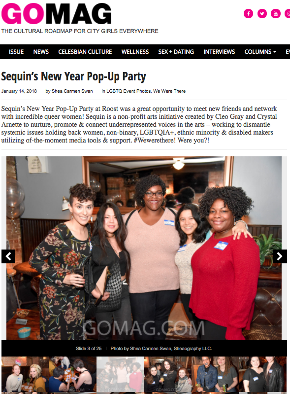 GO Magazine at SEQUIN Pop-Up