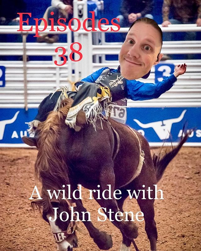 Episode 38 is alive with our special guest this week John Stene of @stenewoodwork the bull riding cowboy from Montana who now resides in Canada doing cabinetry. It was a great talk with a funny guy #atgpodcast #guest #bullriding