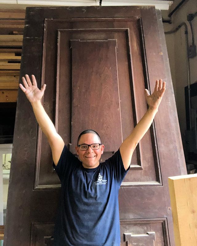 So you want to see a massive door! Well take a peek at this gem and imagine 4 like it just right behind it. Coming in at about 150'pounds. Made from Solid walnut, over 4 feet wide and over 10 feet tall. I can't even express how ridiculously amazing these doors are. And I can't wait to record myself moving these beasts and laughing. Find that niche and be known for it.
