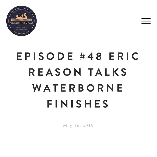 """This weeks show we have @ericreason  as a guest.  He's talking about waterborne finishes and teaching everyone to """"Test,don't guess"""" We hope you enjoy the conversation, we sure did.  #waterborne #painting #refinishing #cabinetmaker #painter #lacqure #conversionvarnish  #waterbornefinishes"""