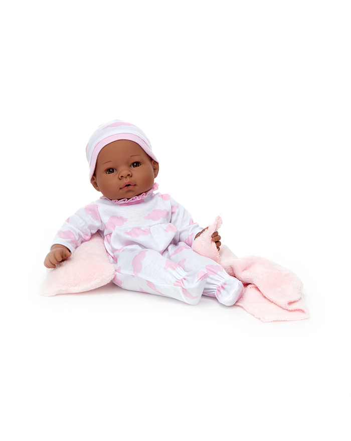 "MIDDLETON - These realistic 16"" baby dolls have natural features and lifelike expressions. Soft bodies make these newborn dolls appropriate for ages 2+. Every doll is accompanied by a blanket and adoption certificate."