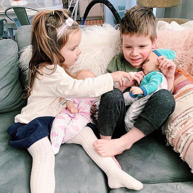 Happy National Siblings Day! There's nothing quite like the bond between siblings. Thank you for sharing this sweet photo with us @katie_did_what! We love hearing that our Middleton Twins are helping your little ones practice for their baby brother's arrival. #loveisinthedetails #NationalSiblingDay