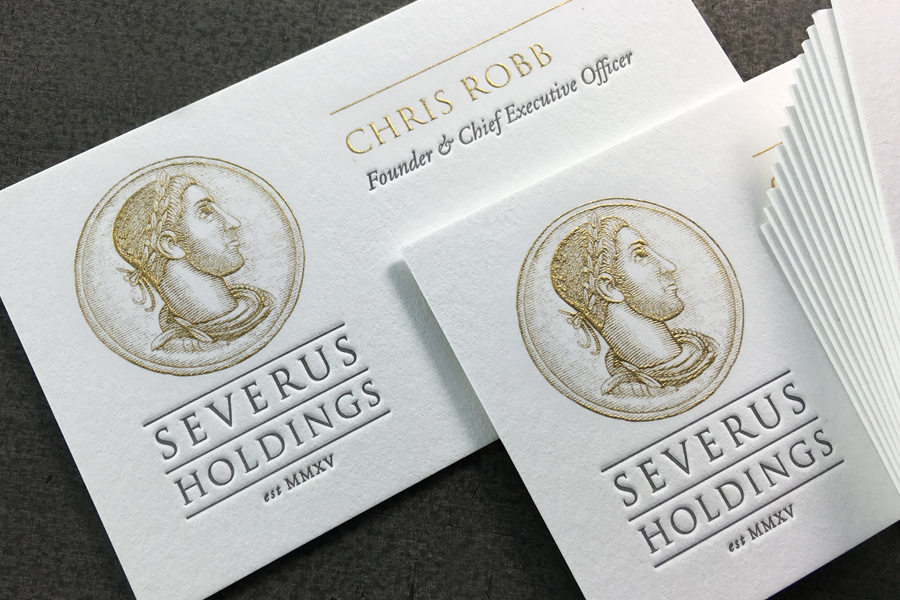 Severus Holdings Business Card — STUDIO ON FIRE