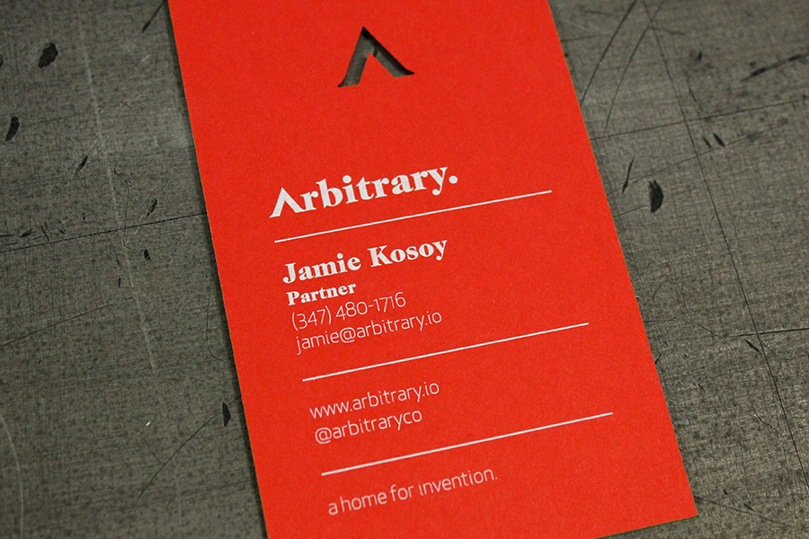 Arbitrary Business Cards — STUDIO ON FIRE