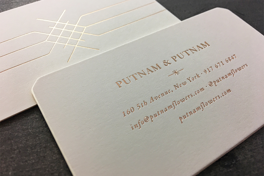 Putnam putnam stationery studio on fire custom diecut with hole drilled envelope 80 neenah classic crest natural white square flap 1 foil stamp reheart Choice Image