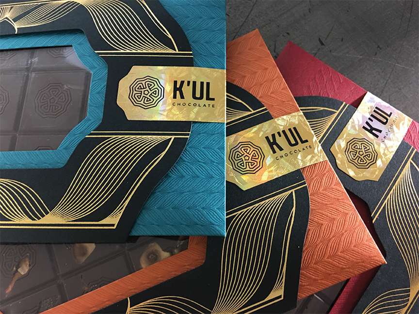 Studio-On-Fire-Kul-chocolate-letterpress-foil-packaging-holographic-label.jpg