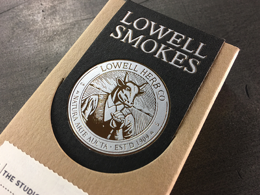 Studio-On-Fire-Lowell-Smokes-letterpress-foil-packaging-box-front.jpg