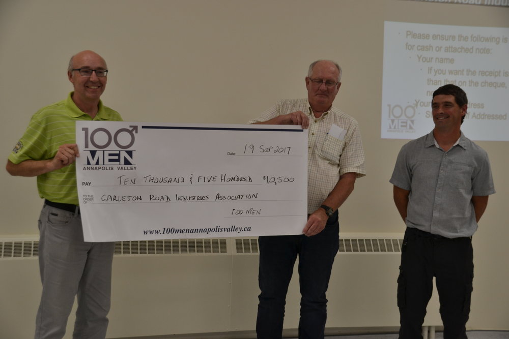Scott Trimper, 100 Men, Dave Logie, 100 Men, Mackenzie Akin, Carleton Road Industries Association