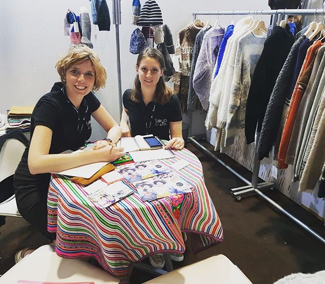 Day 1 in our booth at #perumoda!  Sharing our stories and products with interesting brands and people.  If you're around, come and say hi! We're at stand 54.
