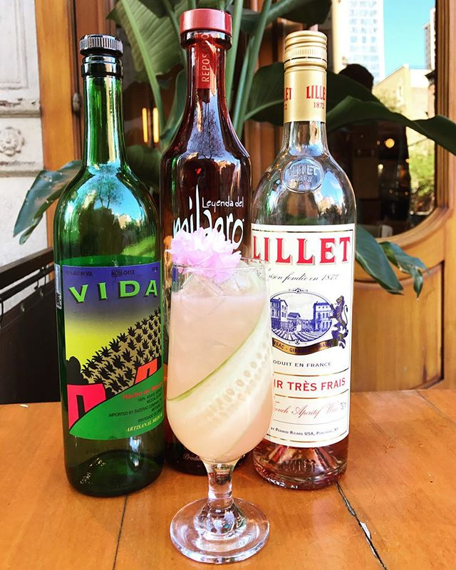 """When the temperature breaks 80 degrees, it's definitely cocktail weather! Come try """"Don Juan"""" with Milagro Reposado, Vida Mazcal, Yellow Chartreuse, Lillet Rosé, Rose Syrup, Lemon, and Cucumber #cafedalsace . . . . . @lillet1872 @milagrotequila  #cocktails #spring #summer #mezcal #vidamezcal #chartreuse #tequila #drinks #bartender #sommelier #thirstynyc #nycdrinks #frenchbistro #eeeeeats #eatingnyc #f52grams #feedfeed #humpday #newforkcity #nycrestaurants #nyc #ues"""