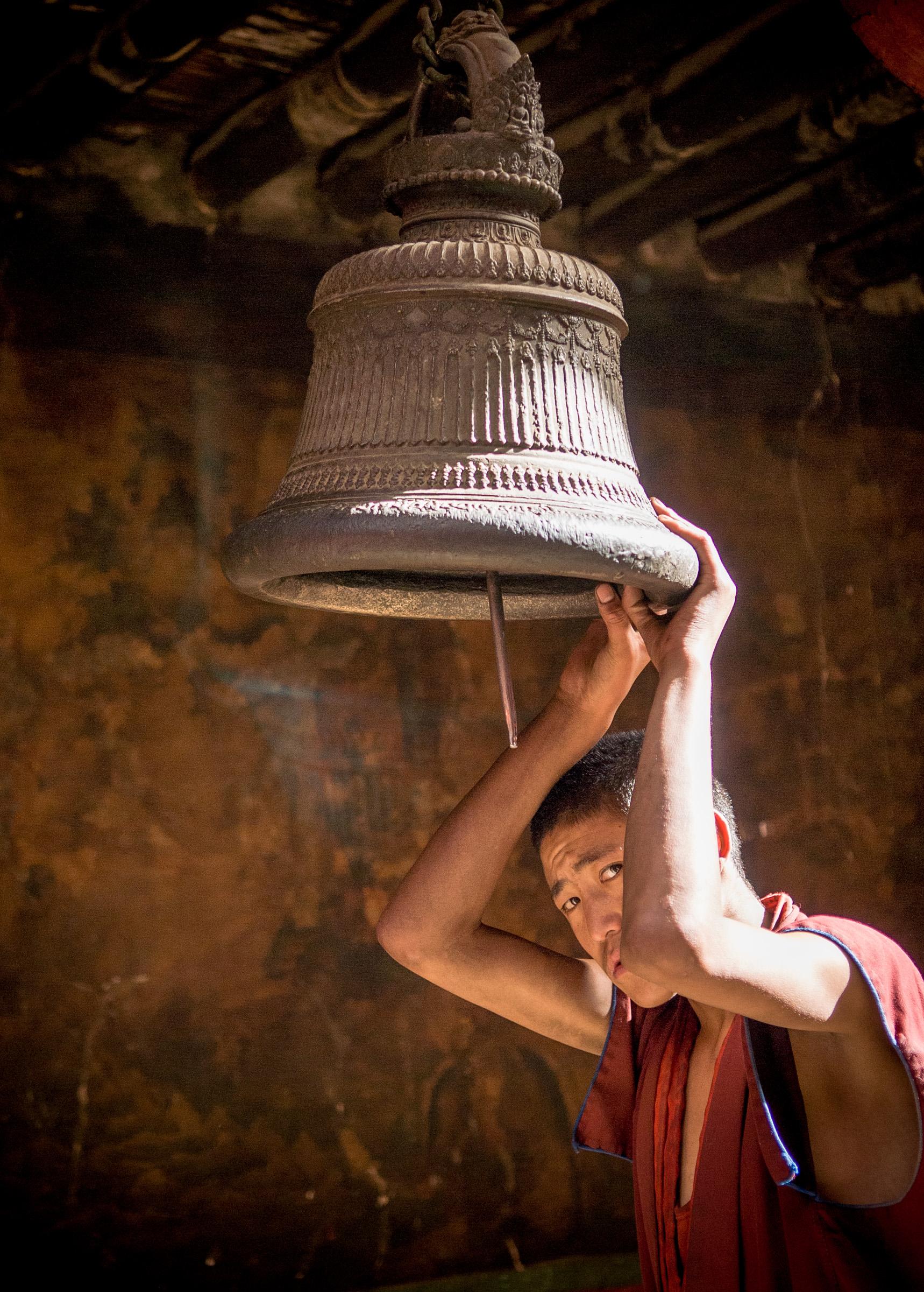 Monk at Gyantse Zong