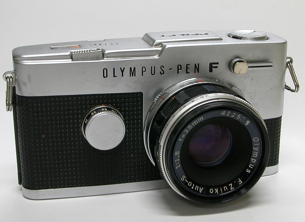 Olympus Pen-F, circa 1963. Photo courtesy Wikipedia. Click to view article.