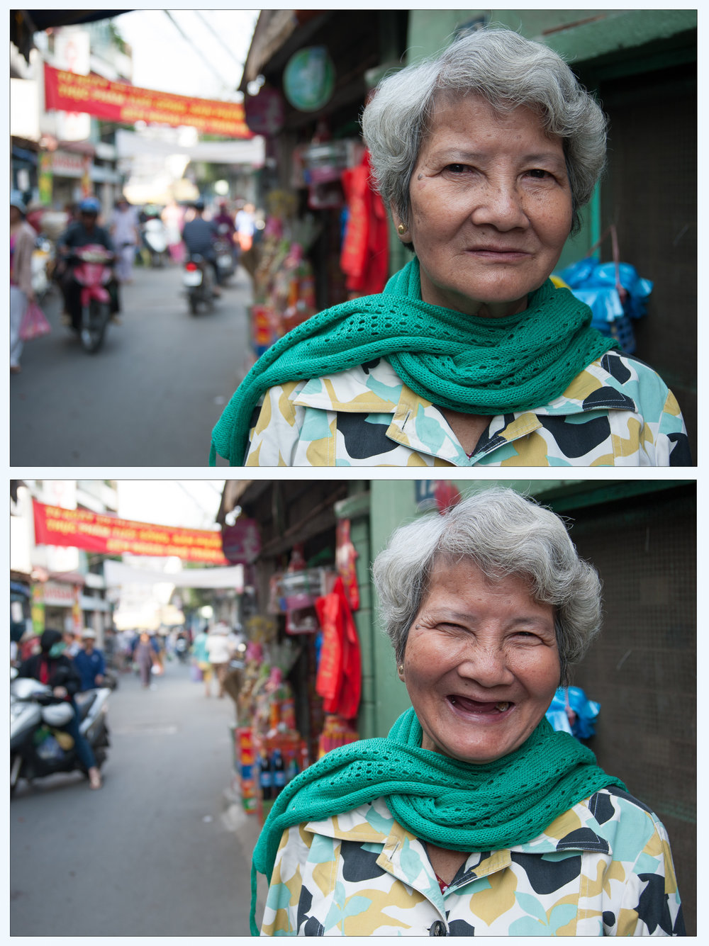 Grandmother of 7, Saigon market
