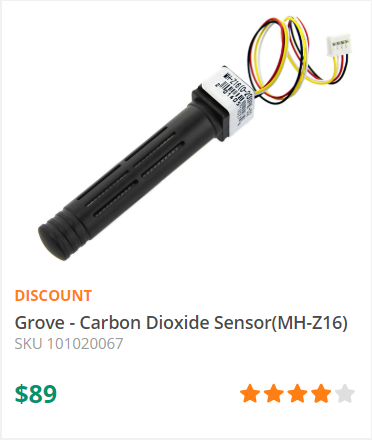 The Grove - CO2 Sensor module is infrared CO2 sensor high sensitivity and high resolution. -