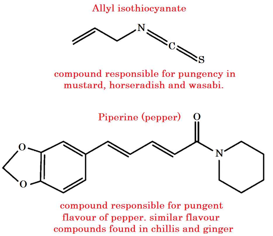 Pungent Compounds Peperine and Allyl isothyocyanate