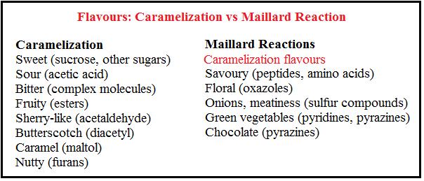 caramelization vs maillard reaction
